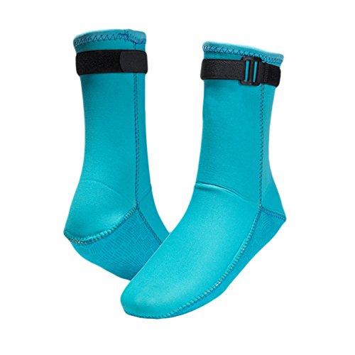 Blå 3mm Surfing Svømmetur Haodasi Skli Sokker Varme Våtdrakt Støvler Snorkling Vannsport Dykking PORdgq