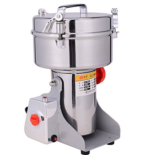 110V 3800W High-powered Swing Type Large-scale 2Kg 2000g Large Capacity Stainless Steel Grains Food Mill Major Grinding Machine Grinder Food Pulverizer
