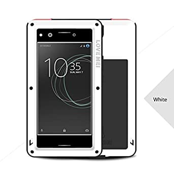 timeless design 013a9 1f211 Sony Xperia XZ Premium (5.5inch) Waterproof Case, Heavy Duty Armor Tank  Shockproof Waterproof Dust/Dirt/Snow Proof Aluminum Metal Tempered Glass ...