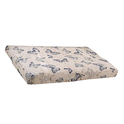 Fenteer Universal Sofa Bed Slipcover Armless 3 Seater Couch Settee Stretch Cover Washable Easy Fit - Butterfly Butterfly Settee