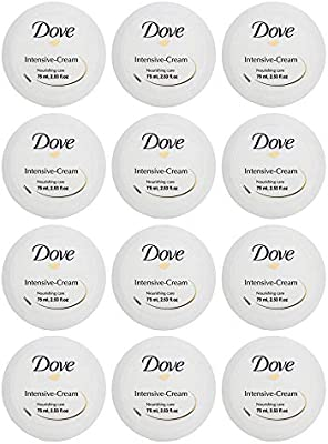 Dove Intensive Cream Nourishing Care Dry Skin Moisturizer 75ml 2.53oz (12-Pack)