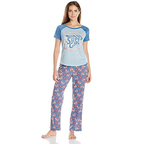 DC Comics Women's Supergirl Ininty 2 Pc Set, Blue -