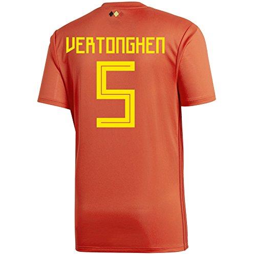 記念碑荒廃する放棄Adidasフェルトンゲン# 5 Belgium Home Men 's Soccer Jersey World Cup Russia 2018