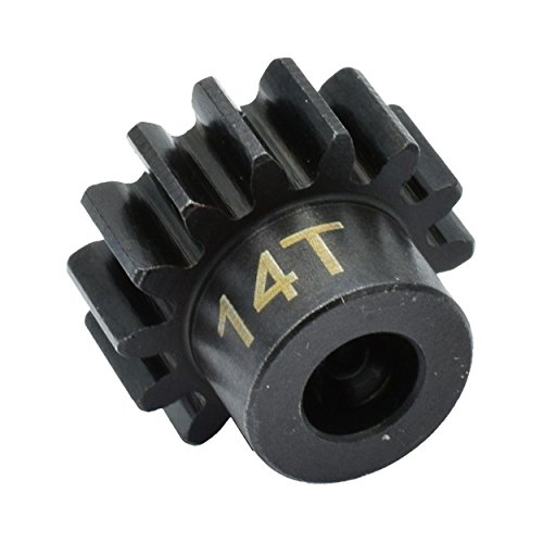 Hot Racing NSG14M1 14t Steel Mod 1 Pinion Gear 5mm ()