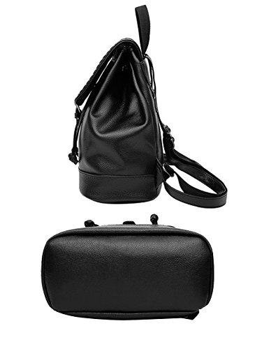Menschwear Moda Mujer Chica funda mochila escolar bolsa Negro Negro