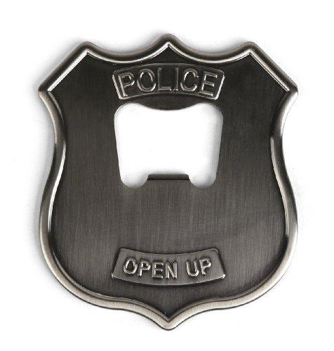 Kikkerland Police Badge Stainless Steel Bottle Opener]()