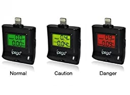 abcGOODefg® IPEGA PG-I5006 Digital Breathalyzer Alcohol Tester With LCD Color Indicator For iPhone 5 5S