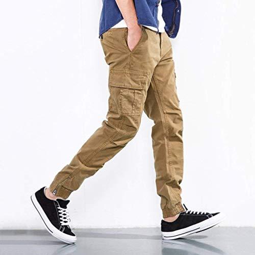 Battercake Tuta Molla Con Uomo Cargo Colore Comodo Pants Autunno Della I Fit Khaki pocket Multi Di Slim Solido Pantaloni Casuali rYnrwU6p