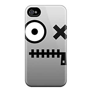 EButcher FtE-826gmqj Case Cover Iphone 4/4s Protective Case Grey Face