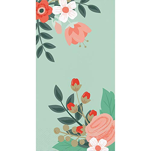 Disposable Hand Towels, Decorative Paper Guest Towels for Bathroom or Paper Napkins Dinner Napkins Floral 8