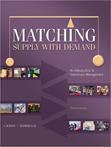 Amazon matching supply with demand an introduction to amazon matching supply with demand an introduction to operations management ebook gerard cachon christian terwiesch kindle store fandeluxe Choice Image