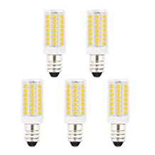 JandCase E11 LED Light Bulbs, 5W (40W Halogen Equivalent), 400LM, Natural Daylight White (4000K), 120V, E11 Base Mini Candelabra LED Daylight White Bulbs for Home Lighting (Pack of 5)