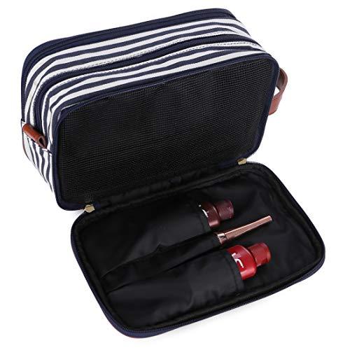- BAOSHA Large Canvas Travel Toiletry Bag Shaving Dopp Case Cosmetic Makeup Bag for Women XS-06 (Blue)