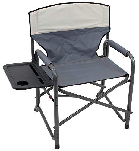 RIO Gear Margaritaville Broadback XXL Directors Outdoor Folding Chair – Slate Putty, 28 x 38 x 24.5