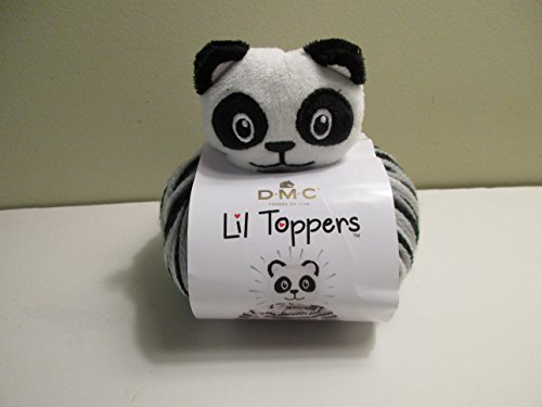 Lil Toppers Knit Hat Kit Panda Black and White by Lil Toppers