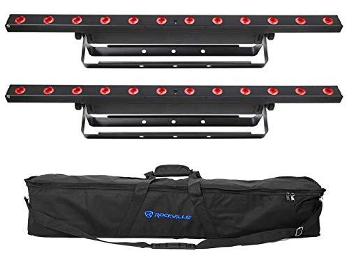 (2) Chauvet COLORband T3 BT Bluetooth DMX Linear Chase FX Wash Light Strips+Bag