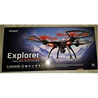 R/C QUADCOPTER DRONE - 6 AXIS GYRO 5.8G FPV WITH 2.0MP FPV CAMERA - Live Video - Photo Transmitted - COLOR - BLACK - Dimension: 20 x 20