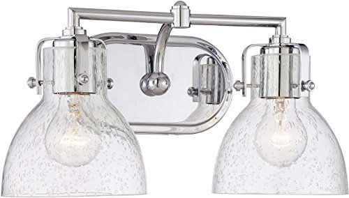 Minka Lavery Urban Industrial Wall Light Fixtures 5722-77 Wall Bath Vanity Lighting, 2-Light 200 Watts, Chrome