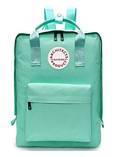 Longzibog Dual verstellbare Schultergurte und Hängeschlaufenband Mode Damen accessories hohe Qualität Einfache Tasche Schultertasche Freizeitrucksack Tasche Rucksäcke Grün