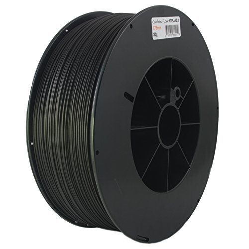 Proto-pasta HTP21730-CF High Temperature Carbon Fiber Spool , PLA 1.75 mm, 3 kg , Black (Carbon Fiber Spool)