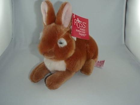Rusia - 31911 - Conejo, marrón, peluche, 22 cm: Amazon.es ...