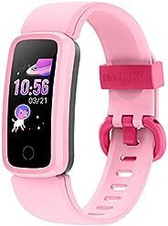 BIGGERFIVE Fitness Tracker Watch for Kids Girls Boys Teens, Activity Tracker, Pedometer, Heart Rate Sleep Moni