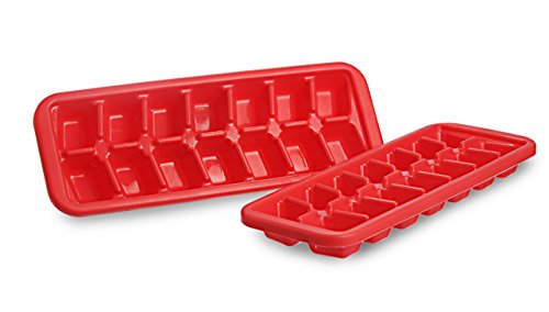 All Time Plastics Cool Ice Cube Tray Set, Set of 2, Red