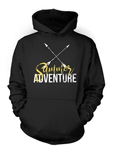 Summer Adventure Arrows Artwork Men's Hoodie Sweatshirt Black Small by Teequote (Image #2)