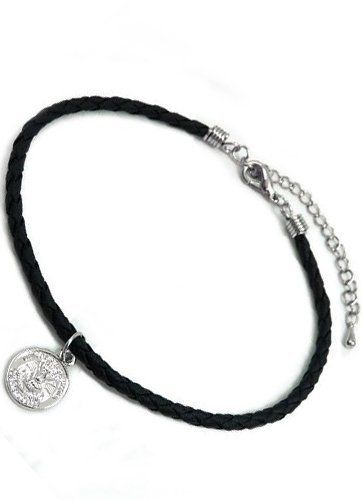발목 장식 남성 미국 동전 앤틱 블랙 실버 ank19-va5 / Anklet Men`s American Coin Antique Black Silver ank19-va5