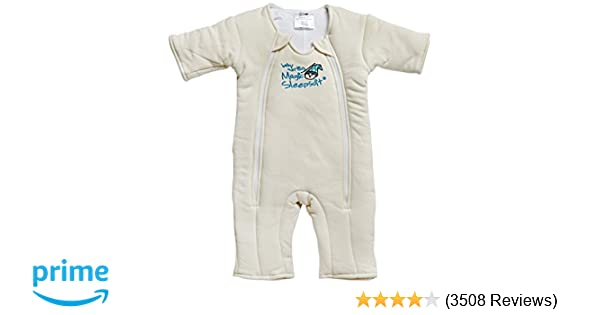 e3ad902409 Amazon.com  Baby Merlin s Magic Sleepsuit - Swaddle Transition Product -  Cotton - Cream - 3-6 Months  Baby