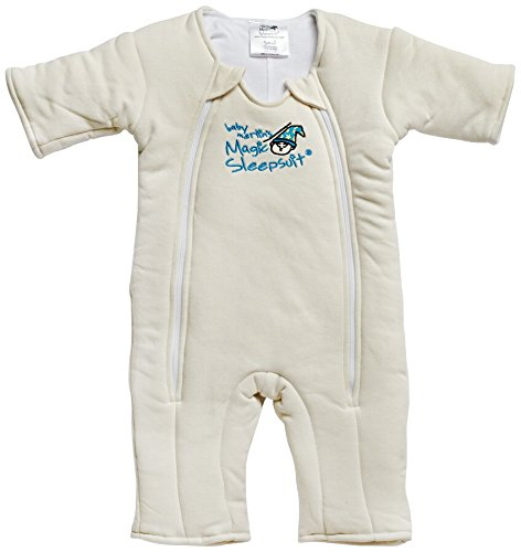 Baby Merlin's Magic Sleepsuit Cotton - Cream - 3-6 months Baby Merlin' s MSSC-CSP