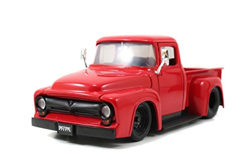 1956 Ford F-100 Pickup 1/24 Red (1956 Ford Truck)