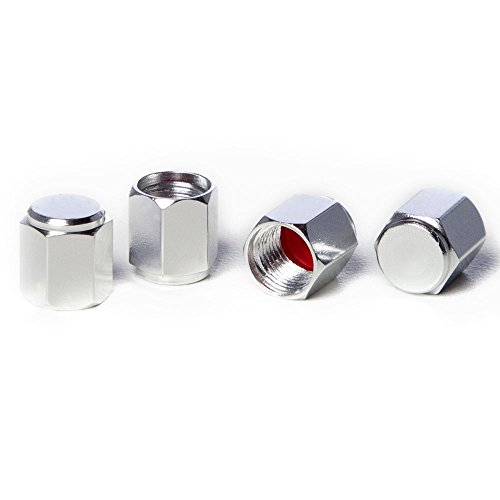 Circuit Performance VC5 Series Silver Aluminum Valve Stem Caps (Set of 4)