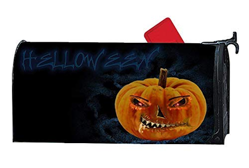 (Tollyee Halloween Pumpkin Devil Magnetic Mailbox Cover Home Garden Cute Personalized Mailbox Wraps Magnetic Mailbox Cover 9