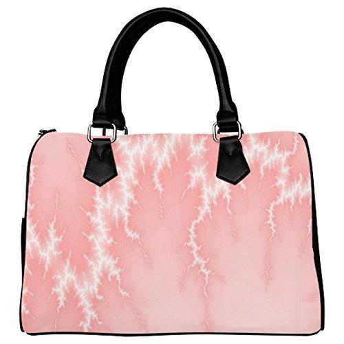 Jasonea Women Boston Handbag Top Handle Handbag Satchel Amazing Fractal Basad196025