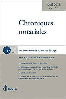 Book Chroniques notariales volume 53