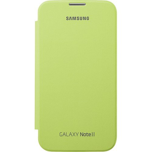 Samsung Galaxy Note 2 Flip Cover Case (Lime Green) Photo #3