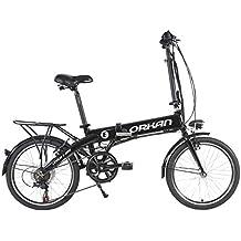 "ORKAN 20""/ 26"" Folding Electric Bike 7 Speed E-Bike for Adults 250W Suspension City Commuter Bike"
