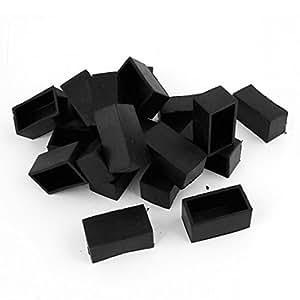 Amazon Dimart Pcs Black Mmx Rectangular Chair Table Foot Cover Leg End Caps