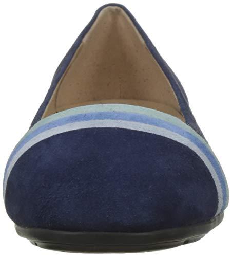 C0226 avio blue Femme D Annytah A Geox Ballerines n4CwARq0f