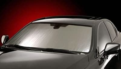 Intro-Tech Automotive FD-89 Custom Fit Windshield Sunshade Custom Fit Sunshade Silver Custom Fit Windshield Sunshade