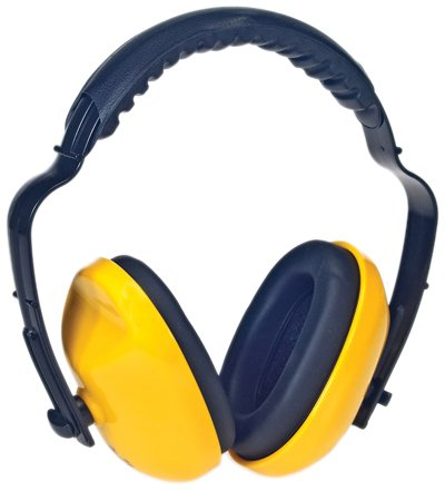Liberty DuraPlugs Adjustable Foam Filled Headband Ear Muff with Padded Ear Cups, Yellow (Case of 6)