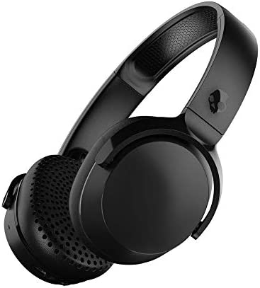 Skullcandy Riff Wireless On-Ear Headphones with Microphone, Bluetooth Wireless, Rapid Charge 12-Hour Battery Life, Foldable, Plush Ear Cushions with Durable Headband, Black Renewed