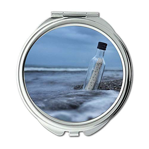 Mirror,makeup mirror,beach bottle cold,Pocket Mirror,portable -