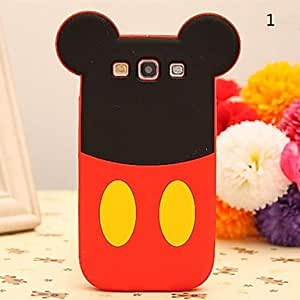 MOM Cute Cartoon Doll Pattern Silicone Soft Case for Samsung Galaxy S3 I9300 (Assorted Color) , 7