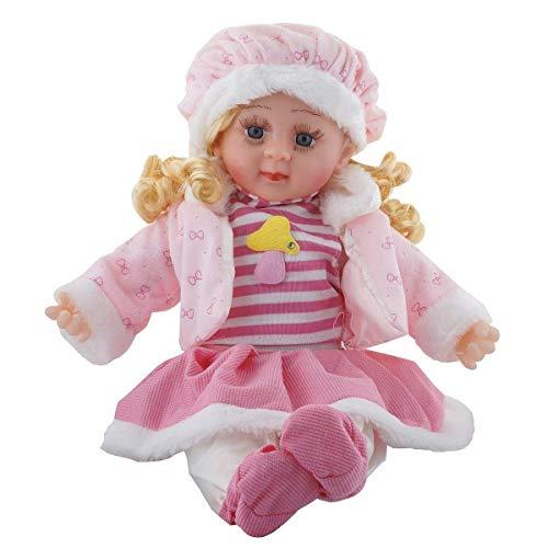 SHREEJIIH oft Girl Singing Songs Baby Doll Toy Silicone 42 cm