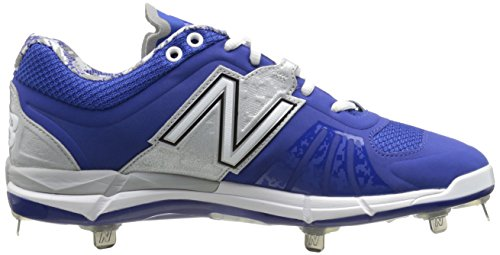 New Balance hombres del l3000V2Metal bajo zapato de béisbol Rey/Plateado