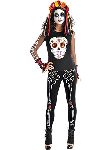 (Amscan Day of The Dead Women's T-Shirt One Size,)