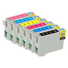 6 Pack - Remanufactured Ink Cartridges for Epson #79 T079 T079120 T079220 T079320 T079420 T079520 T079620 Inkjet Cartridge Compatible With Epson Artisan 1430 Stylus Photo 1400 (1 Black, 1 Cyan, 1 Magenta, 1 Yellow, 1 Light Cyan, 1 Light Magenta) Ink & Toner 4 You ®