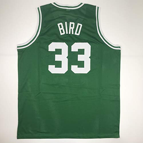 Unsigned Larry Bird Boston Green Custom Stitched Basketball Jersey Size Men